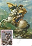 U) 1977,  REPUBLIC OF HIGH - VOLTA, NAPOLEÓN CROSSING THE ALPS, JACQUES-LOUIS DAVID, MAXIMUM CARD - Africa (Other)