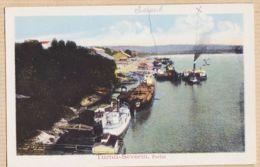Eus107 TURNU-SEVERIN Roumanie Portul Lisez 23-12-1918 Voyage Chaland Semblable LOM PALANKA à SEMENDRIA Serbie CpaWW1 - Romania