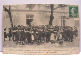 CPA 89 YONNE VILLEBLEVIN CAISSE DES ECOLE XII E ARRONDISSEMENT COLONIE DISTRIBUTION COURRIER 465 - Villeblevin