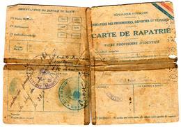 26400 - Carte  De RAPATRIE - Marcofilia (sobres)