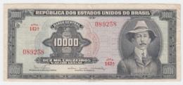 Brazil 10,000 Cruzeiros 1966 VF Pick 182Ba  182B A - Brazil