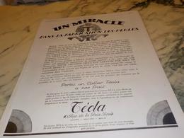 ANCIENNE PUBLICITE MIRACLE  LES PERLES DE  TECLA 1926 - Bijoux & Horlogerie