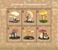 Kazakhstan  2019  Mushrooms Of Kazakhstan   Flora  S/S   MNH - Champignons
