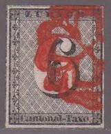 ZH   ZÜRICH 6  /  KAT.NO. 2w  /  MIT ATTEST - 1843-1852 Kantonalmarken Und Bundesmarken
