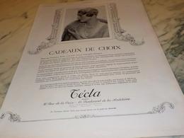 ANCIENNE PUBLICITE CADEAUX DE CHOIX LES PERLES DE  TECLA 1926 - Bijoux & Horlogerie