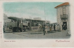 RPCP, Italie, Vallombrosa, Stazione Del Saltino, Photo Of Old  Postcard, 2 Scans - Trains