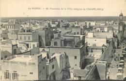 MAROC  -  PANORAMA DE LA VILLE INDIGENE DE  CASABLANCA  - 48 - Casablanca