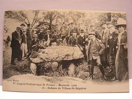CPA 60 OISE CONGRES PREHISTORIQUE BEAUVAIS 1909 DOLMEN DE VILLERS SAINT SEPULCRE 483 - Beauvais
