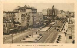 MAROC -  CASABLANCA - LE BOULEVARD DU 4è ZOUAVES - LL - 109 - Casablanca