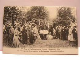 CPA 60 OISE CONGRES PREHISTORIQUE BEAUVAIS 1909 GROUPE CONGRESSISTES DOLMEN DE VILLERS SAINT SEPULCRE  484 - Beauvais