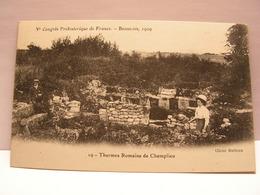 CPA 60 OISE CONGRES PREHISTORIQUE BEAUVAIS 1909 THERMES ROMAINS DE CHAMPLIEU 486 - Beauvais