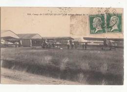 CPA - France 56 - Camp De Coetquidan - Les Avions Devant Les Hangars -  Achat Immédiat - (cd016 ) - Kasernen