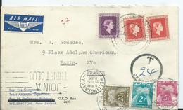 NOUVELLE ZELANDE - Pli Au Départ De WELLINGTON Pour PARIS - Lettre TAXEE - Nouvelle-Zélande