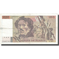 France, 100 Francs, Delacroix, 1994, 1994, TB+, Fayette:69ter.1b, KM:154h - 1962-1997 ''Francs''