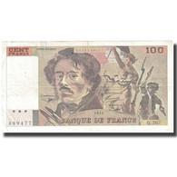 France, 100 Francs, Delacroix, 1994, 1994, TB+, Fayette:69ter.01a, KM:154h - 1962-1997 ''Francs''