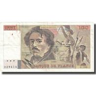 France, 100 Francs, Delacroix, 1991, 1991, TB+, Fayette:69bis.4a, KM:154f - 1962-1997 ''Francs''