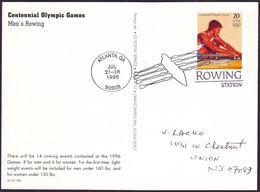 USA - 1996 P - Olympic Games 1996 - Stationery Card  (rowing) - Estate 1996: Atlanta