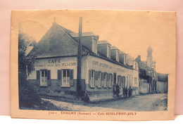CPA 80 SOMME EPAGNY CAFE BOULFROY JOLY RENDEZ VOUS DES PECHEURS 495 - Francia