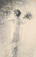 """¤¤    -  Illustrateur """" ?? """"   -   Carte Viennoise   -   Femme   -  Fleurs  -   Art Nouveau -   ¤¤ - Illustrators & Photographers"""