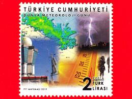 TURCHIA - Usato - 2019 - Giornata Mondiale Della Meteorologia - 2 - 1921-... Republiek