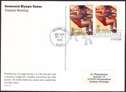 USA - 1996 R - Olympic Games 1996 - Stationery Card  (wrestling) - Estate 1996: Atlanta