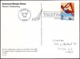 USA - 1996 V - Olympic Games 1996 - Stationery Card  (yachting) - Estate 1996: Atlanta