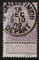 67  Obl  BXL (Midi) Départ  + 4 - 1893-1900 Schmaler Bart