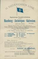 Klapp Cp H. Diederichsen Line, Fährschiff Hamburg Antwerpen Galveston - Schiffe