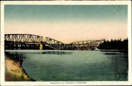 Cp Brest Litowsk Weißrussland, Bugbrücke, Zerstört - Belarus