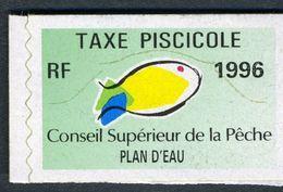 Timbre Fiscal De Pêche Neuf - Plan D'Eau - 1996 - Fiscales
