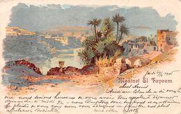 Medinet El Fayoum - Litho - 1905 - El Cairo