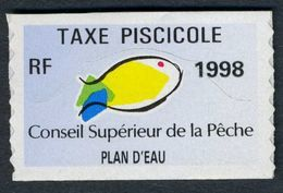 Timbre Fiscal De Pêche Neuf - Plan D'Eau - 1998 - Fiscales