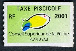 Timbre Fiscal De Pêche Neuf - Plan D'Eau - 2001 - Fiscales