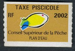 Timbre Fiscal De Pêche Neuf - Plan D'Eau - 2002 - Fiscales