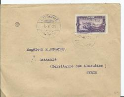 FRANCE-ALAOUITES - Lettre Au Départ De LATTAQUIE- 1925 - Alaouites (1923-1930)