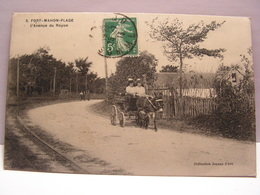 CPA 80 SOMME FORT MAHON AVENUE DE ROYON ANIMEE ATTELAGE ANE 508 - Fort Mahon