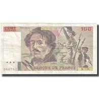 France, 100 Francs, Delacroix, 1990, 1990, TB+, Fayette:69bis.1a, KM:154d - 1962-1997 ''Francs''