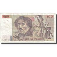 France, 100 Francs, Delacroix, 1990, 1990, TB+, Fayette:69bis.2b, KM:154e - 1962-1997 ''Francs''