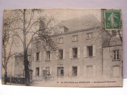 CPA 87 HAUTE VIENNE SAINT SULPICE LES FEUILLES GENDARMERIE NATIONALE 515 - Saint Sulpice Les Feuilles