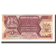 Billet, Uganda, 5 Shillings, 1987, KM:15, SUP - Ouganda