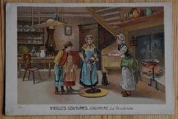 Publicité Chocolat Escoffier - Saint-Etienne - Image : Vieilles Coutumes - Dauphiné - La Boudinée - 10,5 X 7cm (n°16783) - Pubblicitari