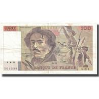 France, 100 Francs, Delacroix, 1995, 1995, TTB, Fayette:69 Ter 2b, KM:154h - 1962-1997 ''Francs''