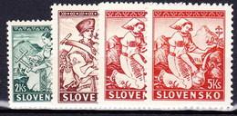 Slovaquie 1939 Mi 43-5A+B (Yv 47+51-2), (MNH)** - Slovaquie