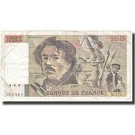 France, 100 Francs, Delacroix, 1991, 1991, TB+, Fayette:69bis.3a2, KM:154e - 1962-1997 ''Francs''