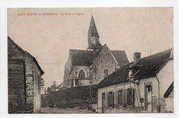 - CPA SAINT-MARTIN-DE-BOSSENAY (10) - La Poste Et L'Eglise - Collection Corcel - - Frankrijk