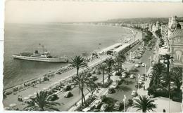 Nice 1956; La Promenade Des Anglais (avec Bateau) - Voyagé. (MAR - Nice) - Nice