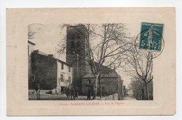 - CPA SAINT-MARTIN-LALANDE (11) - Rue De L'Eglise 1911 (avec Personnages) - Edition E. Gleizes - - Non Classificati