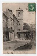 - CPA GRÉASQUE (13) - Place De L'Eglise 1911 - Chiché Peyrol - - Frankrijk