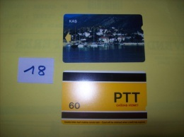 TELECARTE - TURQUIE - Kas   - Dos PTT Cagdas Hizmet  60 - Voir Photo ( 18 ) - Turkey
