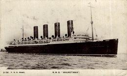 RPPC RMS MAURETANIA - Paquebote